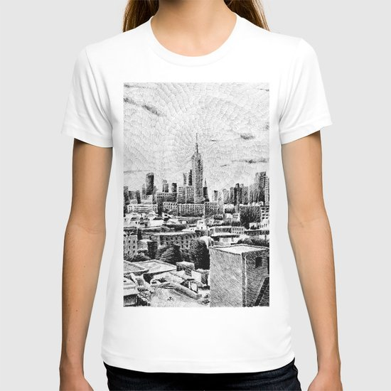 New York City - Fingerprint - Black ink T-shirt