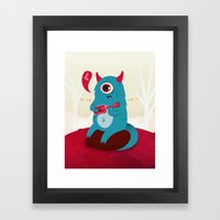 The singing Monster Framed Art Print