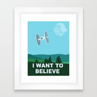 I WANT TO BELIEVE - Star… Framed Art Print