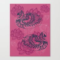 Hamsa, The Swan Canvas Print
