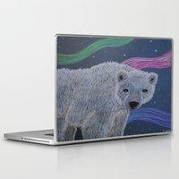 polar bear Laptop & iPad Skins featuring Polar Bear by Renee Trudell