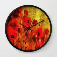 FLOWERS - Poppy reverie Wall Clock