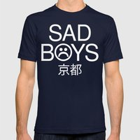 sad Mens Fitted Tee Navy SMALL