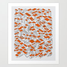 City Grid Day Print Art Print