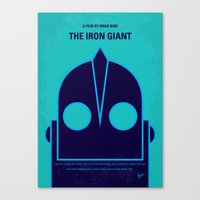 No406 My The Iron Giant minimal movie poster Canvas Print