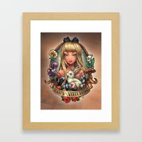 Follow The White Rabbit. Framed Art Print