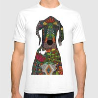 Great Dane Love Beige Mens Fitted Tee White SMALL