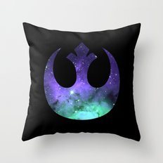 Cosmic Rebel Alliance Throw Pillow
