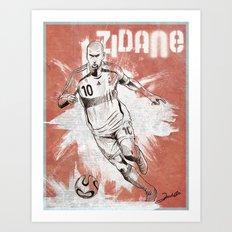 Zinedine Zidane Art Print