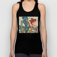 'Walking the Meat Cake!!' painting by Amos Duggan Unisex Tank Top
