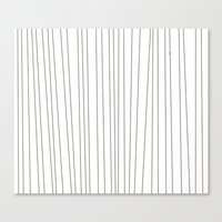 striped blanket Canvas Print