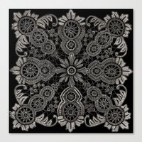Victorian Monochrome Canvas Print