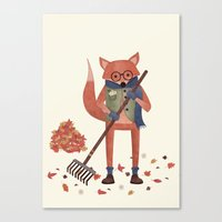 Ferdinand The Fall Fox Canvas Print