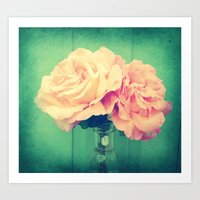 roses Art Prints featuring Roses by 2sweet4words Designs