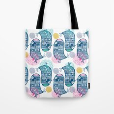 KISSING BIRDS Tote Bag