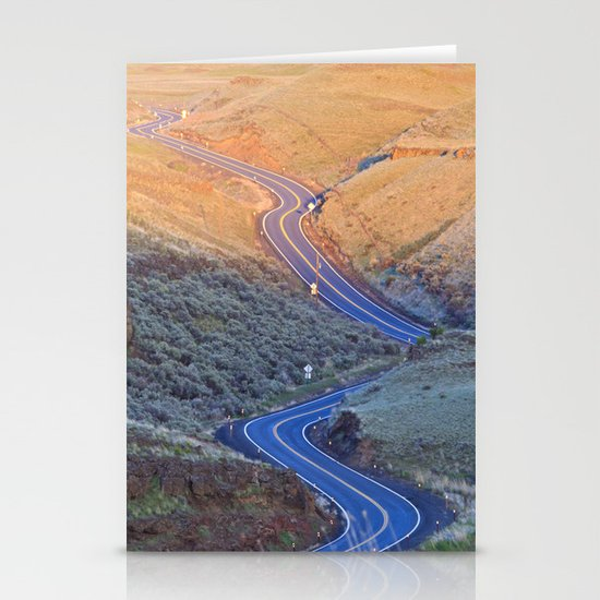 Long and Winding Stationery Card