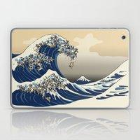 The Great Wave of Pugs Vanilla Sky Laptop & iPad Skin