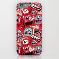 iPhone Cases featuring AAAGHHH! PATTERN! by Chris Piascik