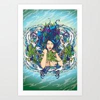 GANJA GIRL Art Print