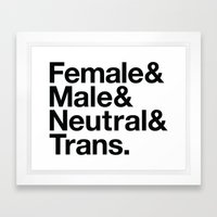 All Equal Genders Framed Art Print