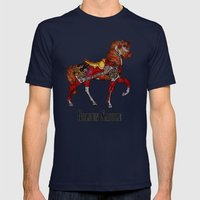 Horse  Mens Fitted Tee Navy SMALL