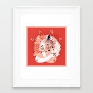 S A M E Framed Art Print