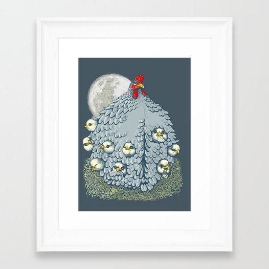 hen ship Framed Art Print