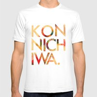 Konnichiwa! Mens Fitted Tee White SMALL