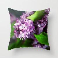 fresh lilacs Throw Pillow