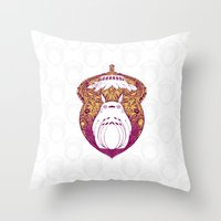 Forest Spirit Victoriana Throw Pillow
