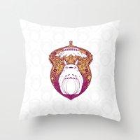 Forest Spirit Victoriana Throw Pillow