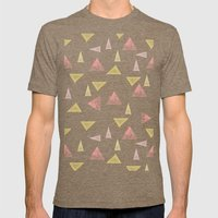 Never stop looking up Mens Fitted Tee Tri-Coffee SMALL