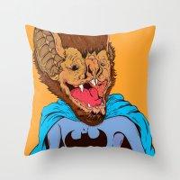Bat-mania Throw Pillow