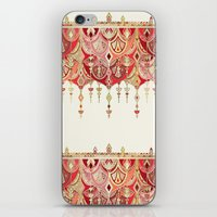 Royal Red Art Deco Doubl… iPhone & iPod Skin