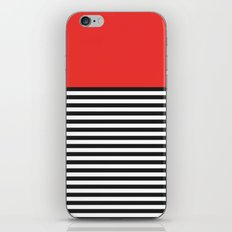 STRIPE COLORBLOCK {POPPY RED} iPhone & iPod Skin