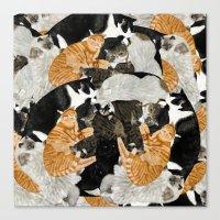 Cat Print Canvas Print