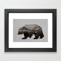 The Kodiak Brown Bear Framed Art Print