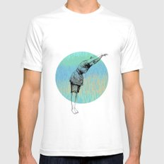 Swimmer ~ The Summer Series SMALL White Mens Fitted Tee