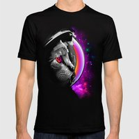 INFINITE CAT  Mens Fitted Tee Black SMALL