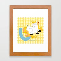 U For Unicorn Framed Art Print
