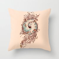 A Temporal Existence Throw Pillow