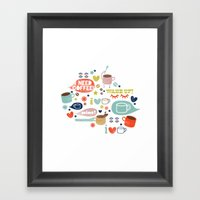 Caffeine Addict Framed Art Print