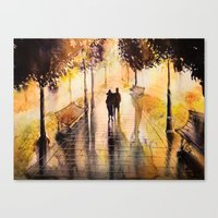 Promenade after the rain Canvas Print