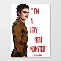 Dexter Morgan Canvas Print