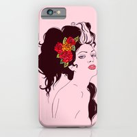 Girl with Roses iPhone 6 Slim Case