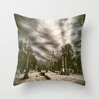 Mt.Olivet Cemetery / Nas… Throw Pillow