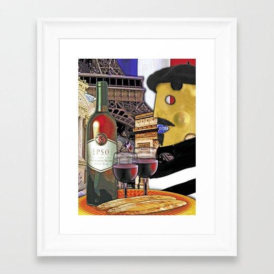 MONSIEUR FROMAGE Framed Art Print