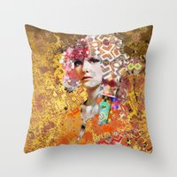 Rose. Gold Throw Pillow