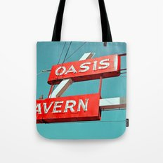 Oasis sign Tote Bag
