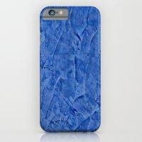 Vibrant Light Blue Plaster iPhone 6 Slim Case